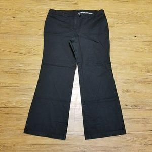 Black wide leg trouser pants